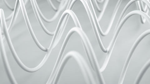 White spiral curves abstract 3D render animation loopable Animation