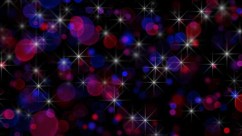 Circle bokeh lights and stars abstract loopable background Animation