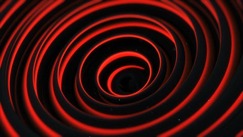 Glowing red spiral 3D shape spinning seamless loop animation Animation