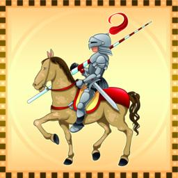 Knight and Horse with Background Vector