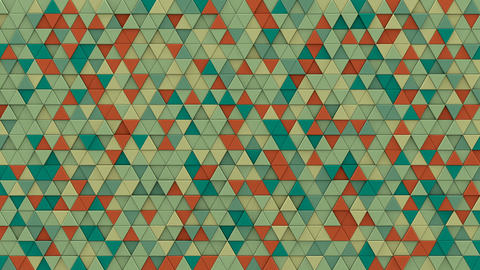 Multicolor chaotic extruded triangles 3D render loopable Animation