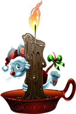 Little Mouse for Christmas Vector