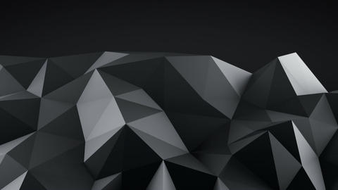 Low poly black shape vibrating seamless loop 3D animation Animation