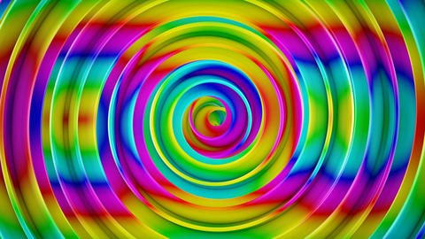 Bright colorful spiral 3D shape spinning loopable animation Animation