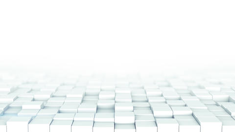 White boxes and free space 3D render loopable animation Animation