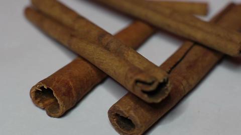 Rotation Cinnamon Sticks Footage