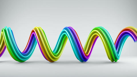 Growing colorful spiral shape abstract 3D animation Animation