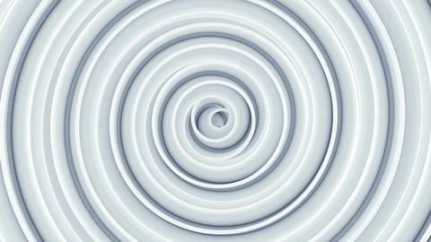White spiral spinning seamless loop abstract 3D animation Animation