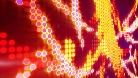 Circle pixel waves abstract loopable background Animation
