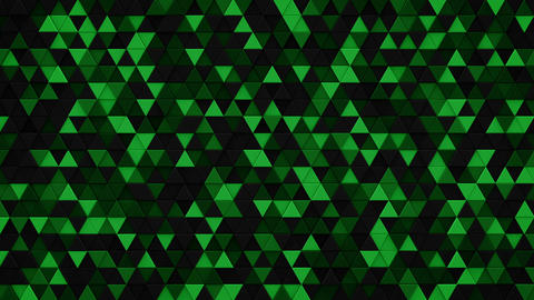 Dark green triangles extruded background 3D render loopable ビデオ