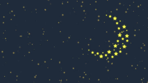 Stars Flicker and Moon Animation
