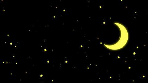 Stars and Moon, Banco de Videos Animados