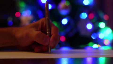 Write Letter For Christmas Footage