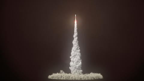 Detailed realistic animation of Rocket Launch Image