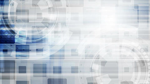 Grey blue hi-tech gears abstract motion design Animation
