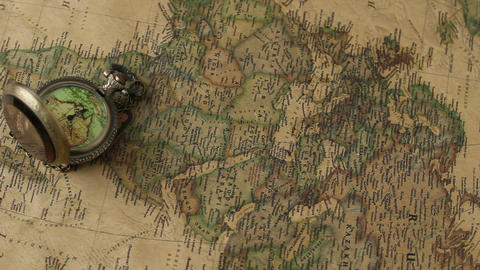 Pocket Watches On The World Map 8 Filmmaterial