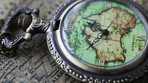 Pocket Watches On The World Map 5 Filmmaterial