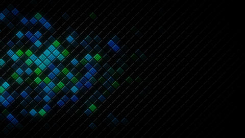Glowing rhombus on the edge abstract loopable background Animation