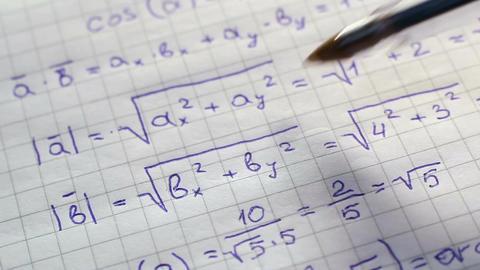 Review Of Mathematics Formulas Footage