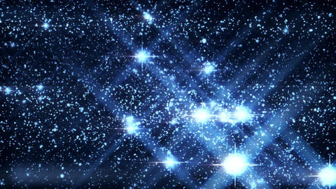Inside a Blue HoloMatrix Starfield Motion Graphic Background Animation