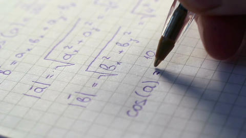 Writing Formulas Of Mathematics Footage