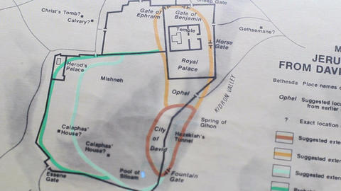 Map Jerusalam From David To Christ Footage