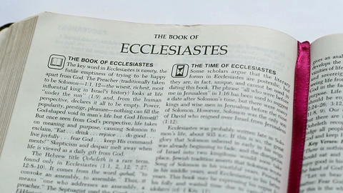 The Book Of Ecclesiastes Footage