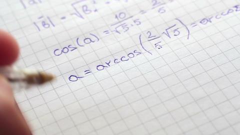 Writing Formulas Of mathematics 3 Footage