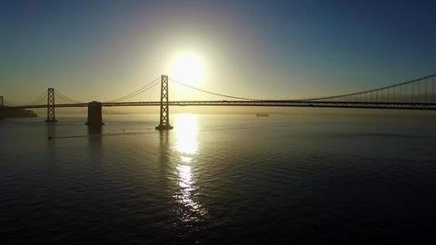 Aerial San Francisco Bay Bridge Footage
