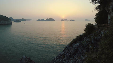 Timelapse of Ha Long Bay at sunrise Live Action
