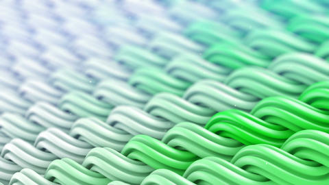 White green curles ornament seamless loop 3D animation Animation