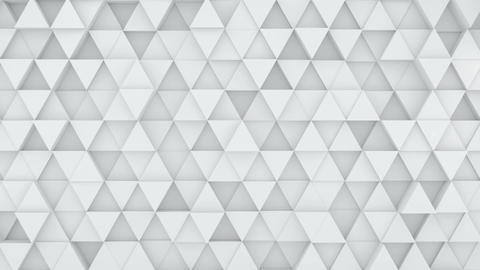 Light grey triangles extruded background 3D render loopable Animation
