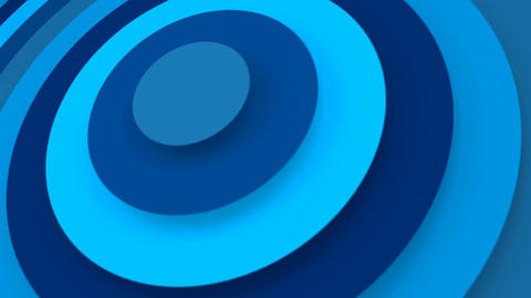 Blue concentric rings growing 3D animation seamless loop Animation