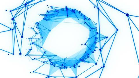 Plexus Polygons Looping Background Animation