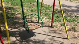 Child metal swing swaying