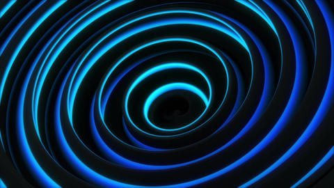 Glowing blue spiral 3D shape spinning seamless loop animation Animation