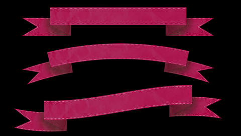 Animated ribbon banners for your text. Pink Animation