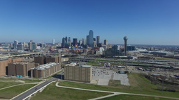 Aerial video of Downtown Dallas in Texas Live Action