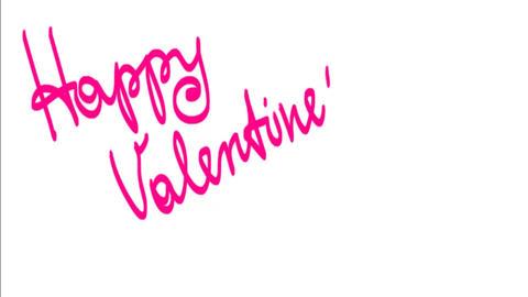 Happy Valentine's day inscription Animation