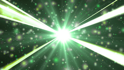 Motion green background light stars and particles Animation
