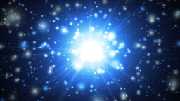 Motion blue background light stars and particles Animation
