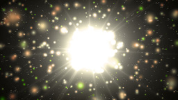 Motion gold background light stars and particles Animation