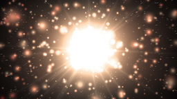Motion orange background light stars and particles Animation