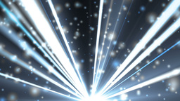 Abstract blue background with rays and particles Animation