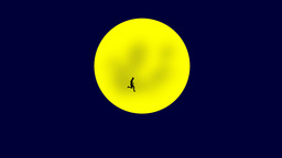 RUNNING MAN OVER THE MOON Animation