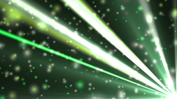 Abstract green background with rays and particles Animation