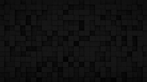 Randomly extruded black cubes 3D render loopable animation Animation