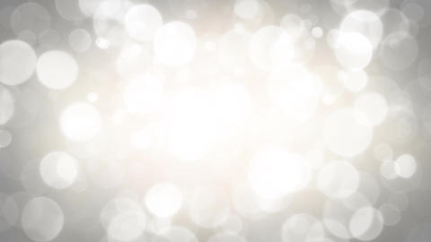 White blurred bokeh circles abstract seamless loop animation Animation
