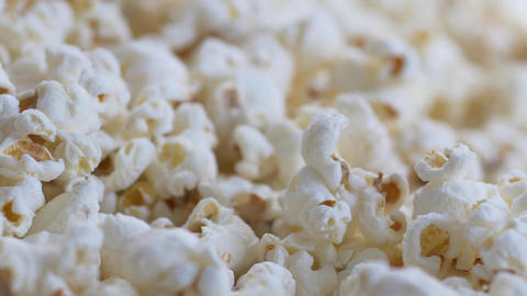 Focus shift on pile of popcorn Footage