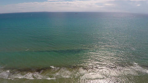 Freshness and tranquility of Mediterranean Sea, aerial view of endless water Footage